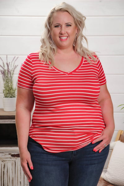 Truthfully Trendy Top Red