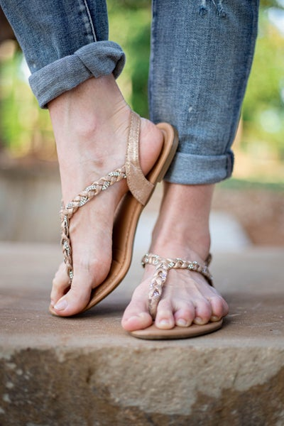 You're In Charge Sandals Gold