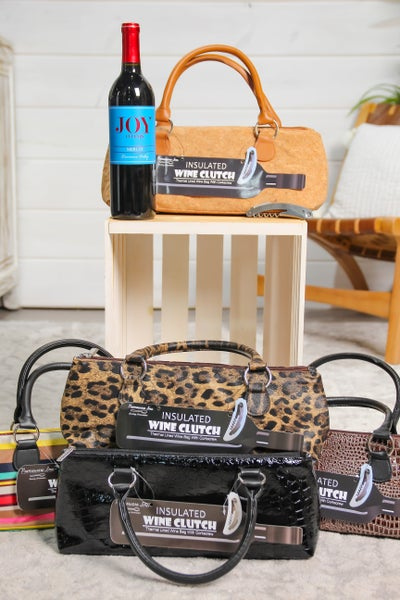 Wine Clutch Insulated Single Bottle Tote