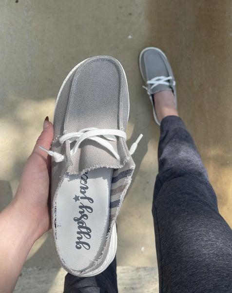 Hey Girl Slides Grey