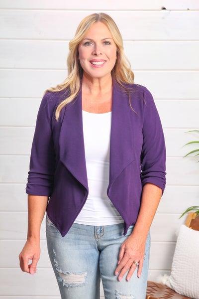 Simply Chic Blazer Purple