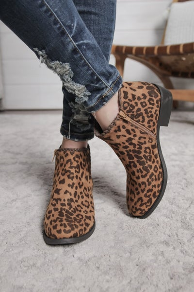 Leopard Stroll Booties *Final Sale*