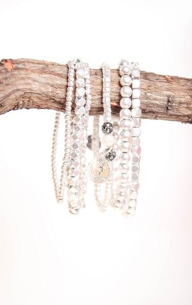 Silver Goddess Bracelet Set