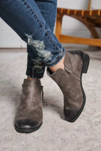 Can't Deny It Booties Pewter *Final Sale*