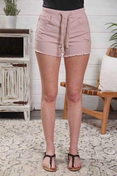 Springtime Fun Jogger Shorts Blush