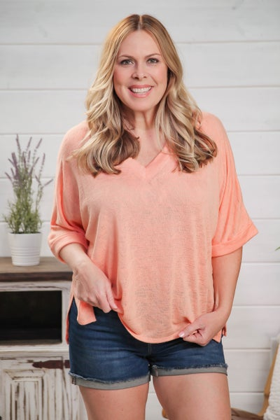 Simple Melody Top Peach