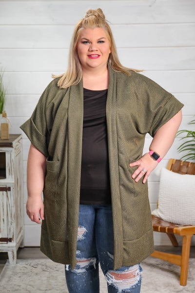 Layer of Love Cardigan Olive