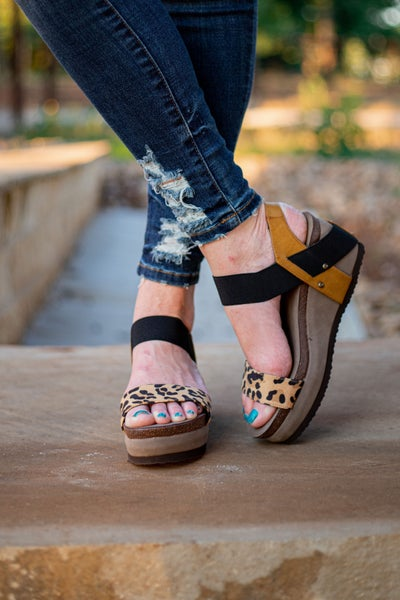 All The Rage Wedges Leopard *Final Sale*