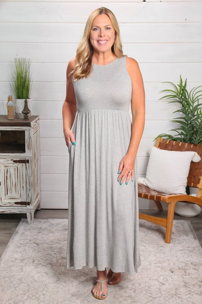 Five Minute Maxi Dress Grey *Final Sale*