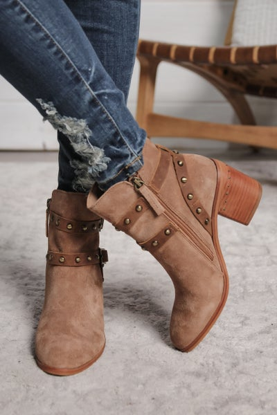 Pure Class Genuine Suede Leather Booties *Final Sale*