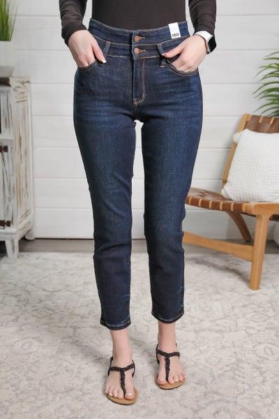 Double the Fun High Waist Jeans Dark Wash