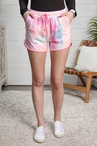 Sporty Girl Shorts Tie Dye