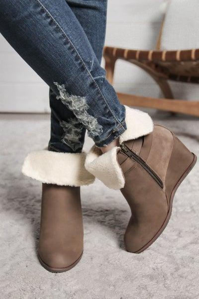 Winter Wonderland Wedge Booties *Final Sale*