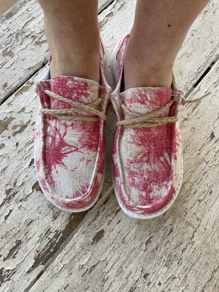 Hey Girl Shoes Pink/Red Swirl