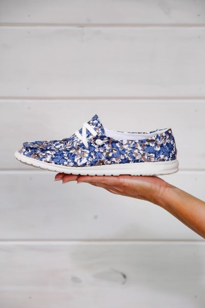 Hey Girl Shoes Blue Floral
