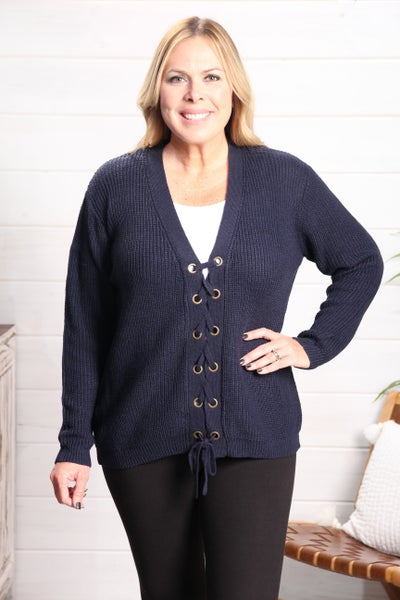 Come On Fall Sweater Navy *Final Sale*