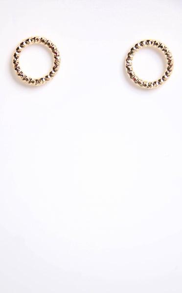 Neverending Time Stud Earrings Gold