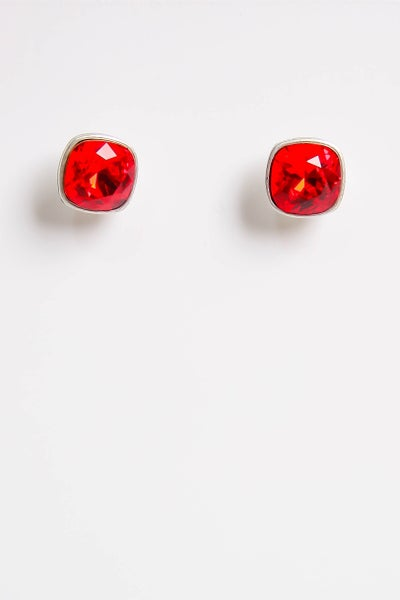It's A Stud Life Earrings Red