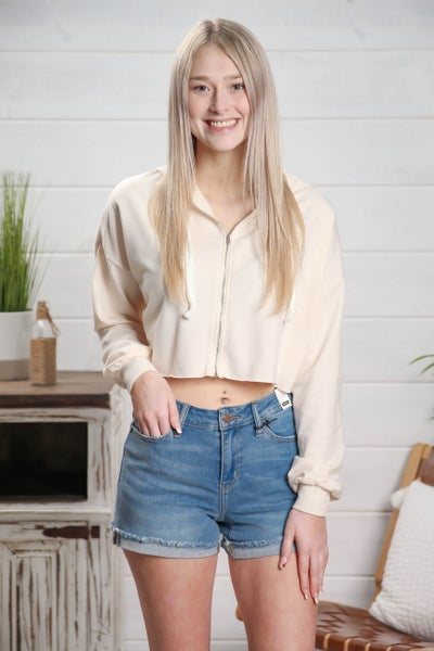 Cute As Can Be Cropped Jacket Cream