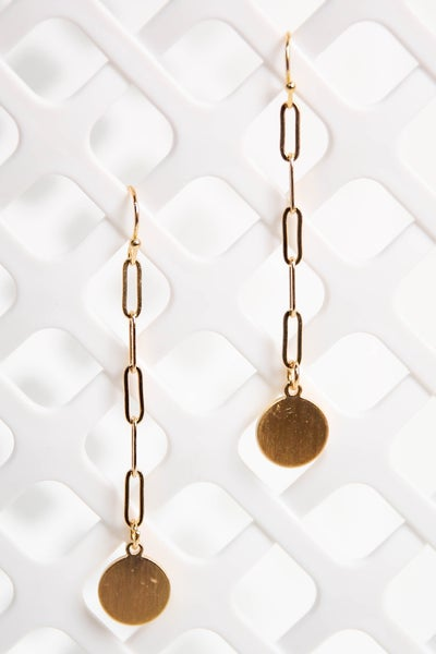 Steal The Night Earrings Gold