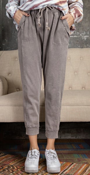 Mineral Wash Joggers (2 colors)