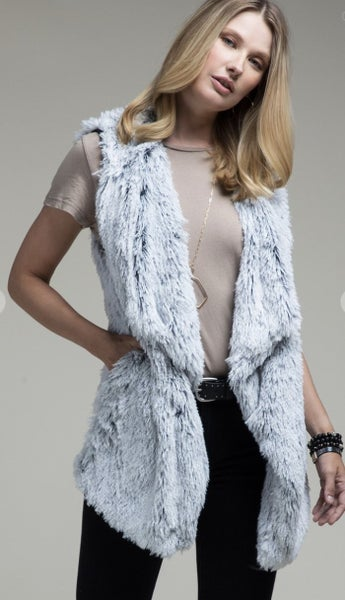 Fluffy Fur Vest (2 colors)