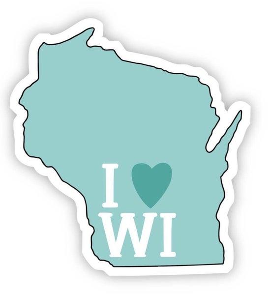 Wisconsin Love Vinyl Sticker (4 colors)