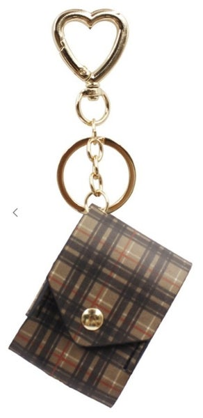 Plaid Print AirPods Keychain (4 colors)