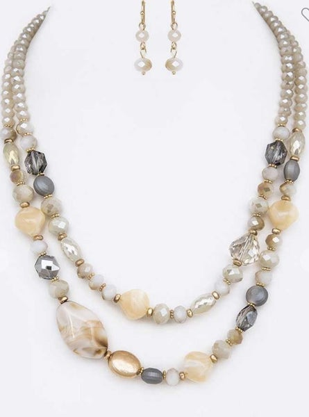 Pebble Layer Necklace Set