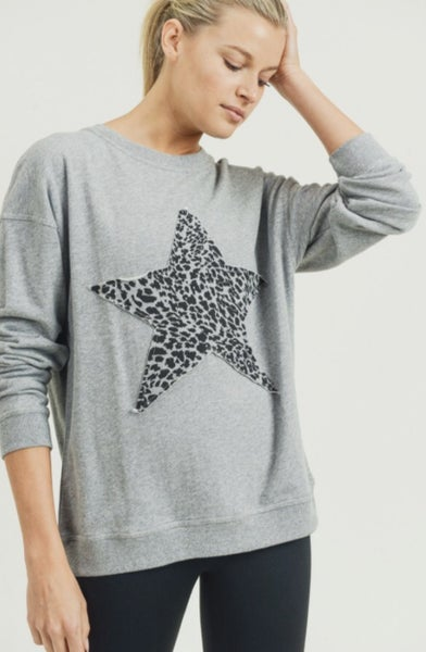 Cheetah Star Terry Sweatshirt