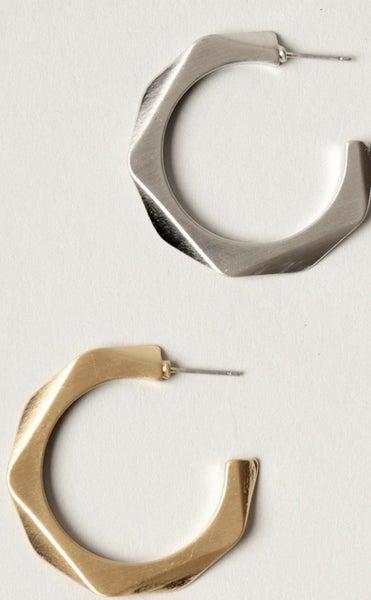 Geometric Hoop Earrings (2 colors)
