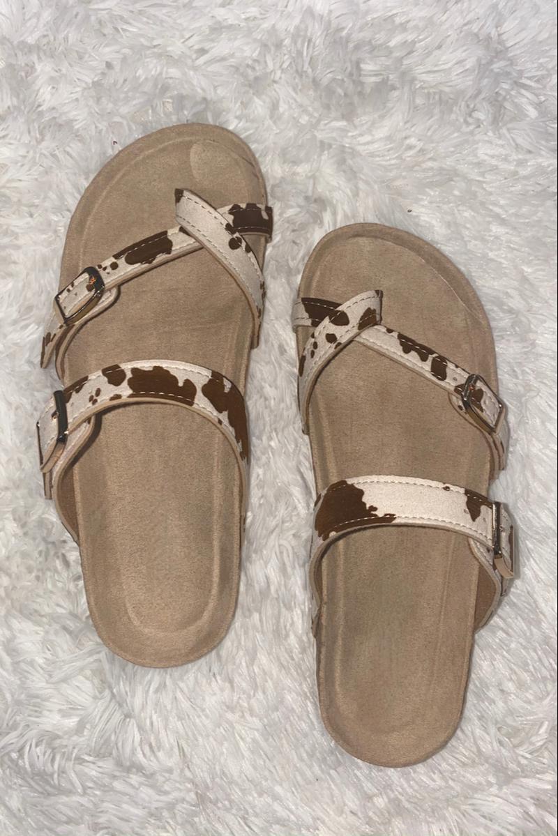 Coming My Way Sandals - Beige Combo