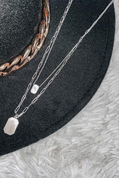 Circle Around Necklace-Silver