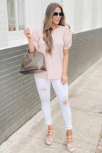 Wonder Often Top - Dusty Pink