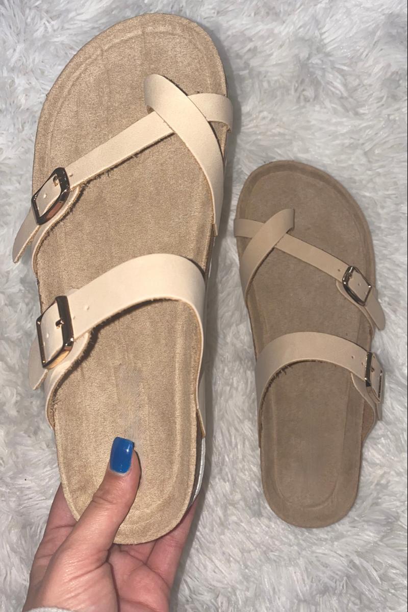 Walking Faithfully Sandals - Natural