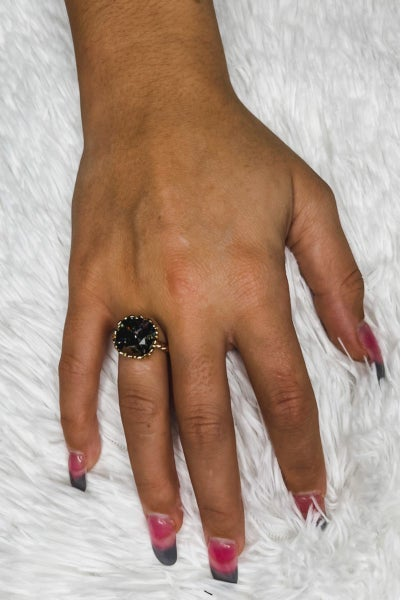 Victoria Lynn 12mm Rope Ring - Black Diamond
