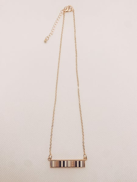 Modern Stripes Necklace