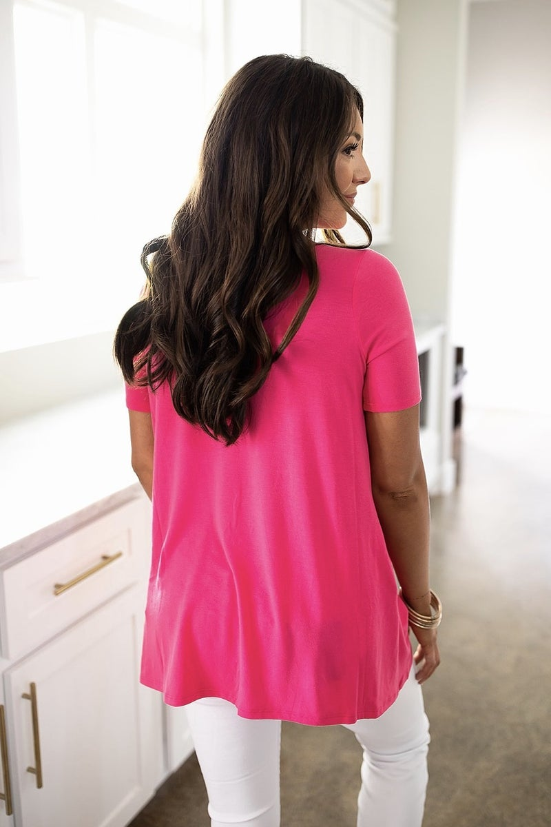Weekend Hours Top- Fuchsia- Deal Of The Day