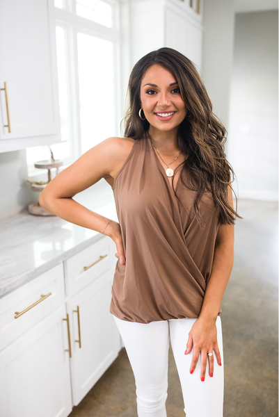 Wishful Delight Top - Mocha - Deal Of The Day