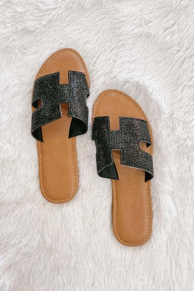 Sleek Style Sandals-Black