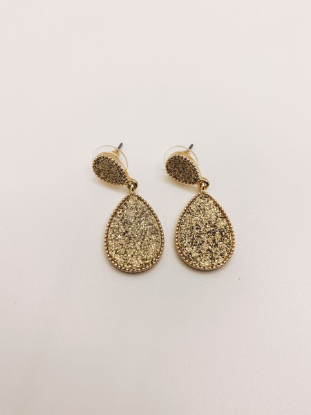 Metallic Druzy Earring