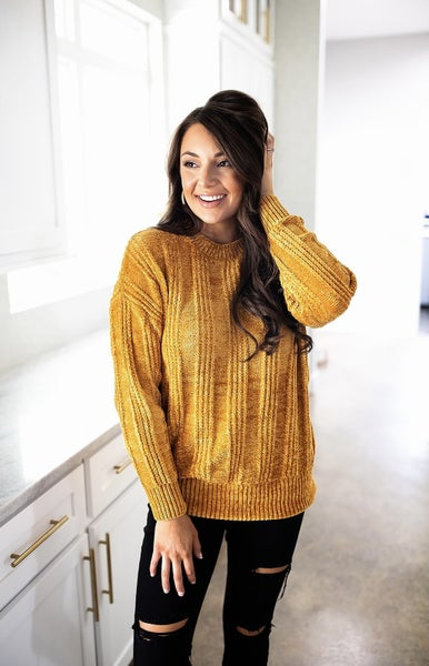 Enjoy Every Second Sweater-Deal Of The Day- Mustard