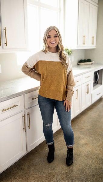 Pull Me In Sweater- Mustard