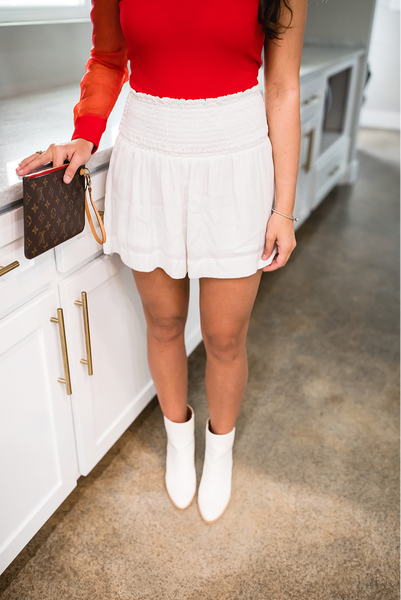 Ready For Spring Shorts-White