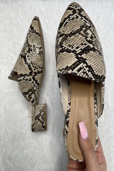 Come My Way Mules- Snake