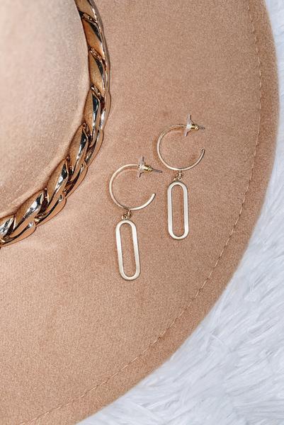 Play Nice Earrings-Gold