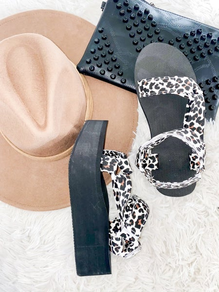 Lounging With You Sandals - Leopard