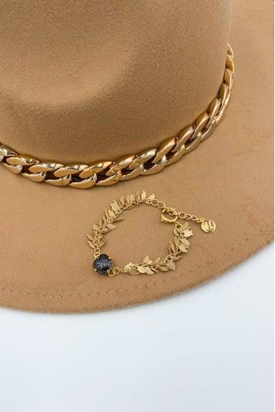 Victoria Lynn 12mm Leaf Bracelet - Black Patina