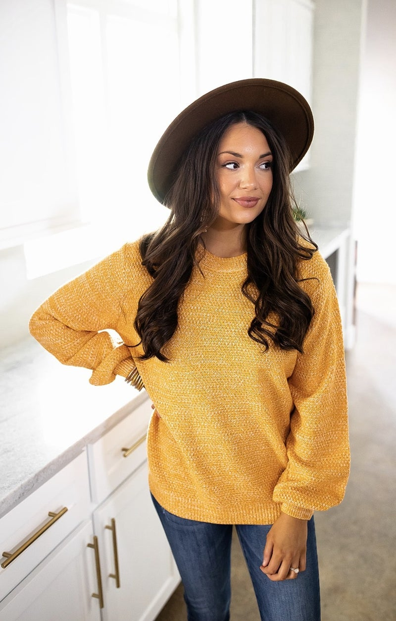 Only Smiles Sweater- Ash Mustard