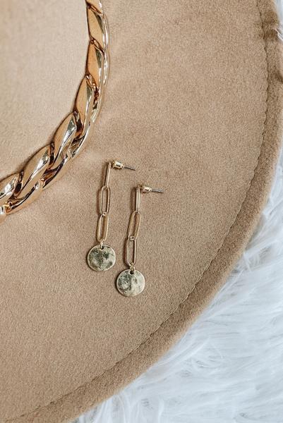 Basic Feels Earrings-Gold